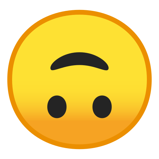 upside down smiley face emoji meaning