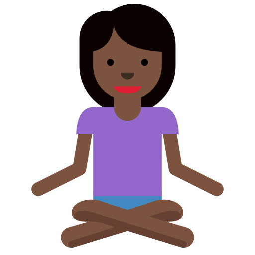 🧘🏿 ♀️ Woman in Lotus Position Emoji with Dark Skin Tone Meaning