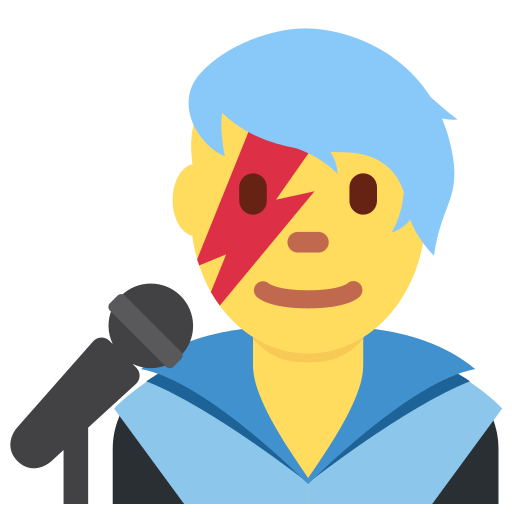 Man Singer Emoji Meaning With Pictures From A To Z
