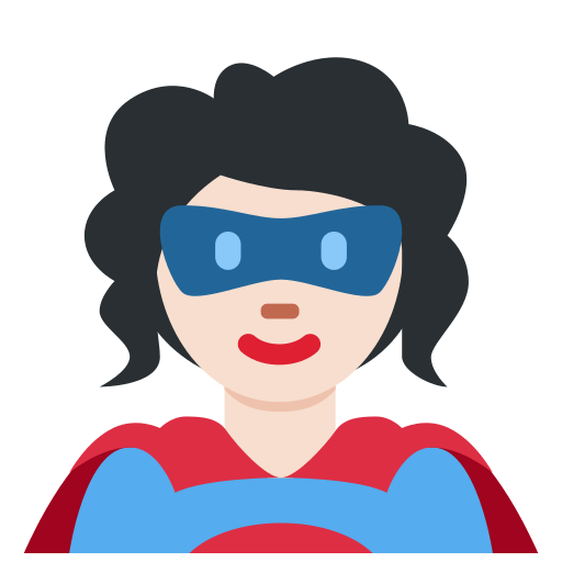 🦸🏻 Superhero Emoji with Light Skin Tone Meaning and Pictures