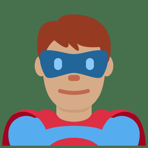 🦸🏽 ♂️ Man Superhero Emoji with Medium Skin Tone Meaning