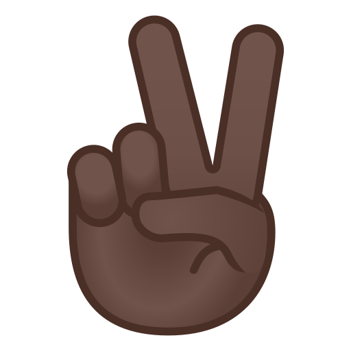 ✌🏿 Victory Hand Emoji with Dark Skin Tone Meaning and Pictures