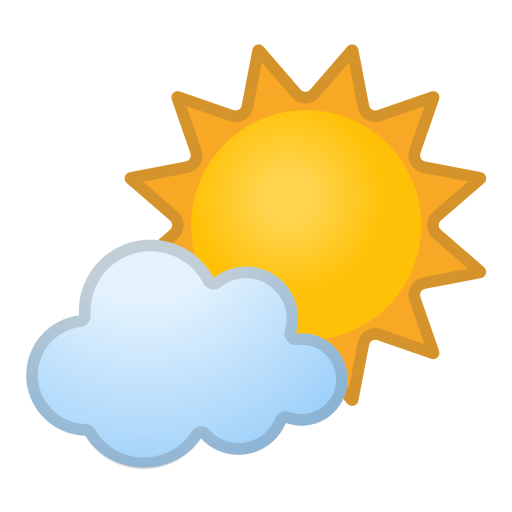 🌤️ Sun Behind Small Cloud Emoji Meaning with Pictures