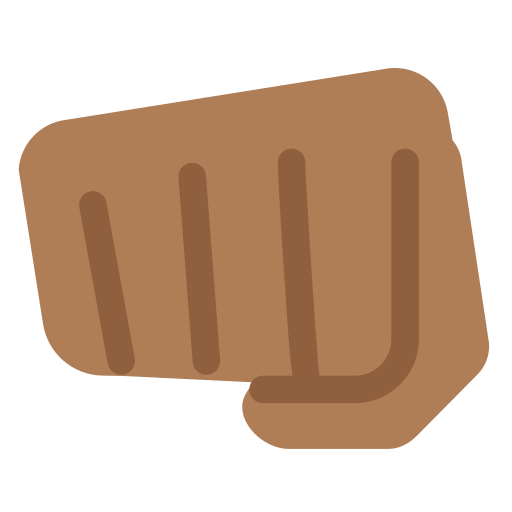 oncoming fist emoji with medium dark skin tone meaning