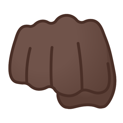 oncoming fist emoji with dark skin tone meaning and pictures
