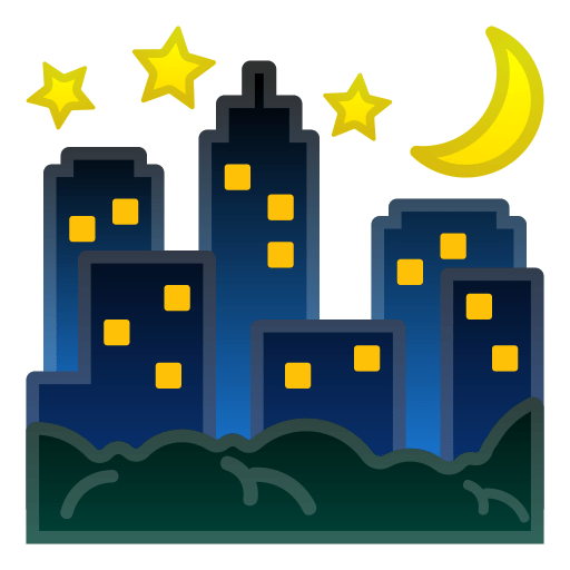 🌃 Night with Stars Emoji Meaning with Pictures: from A to Z