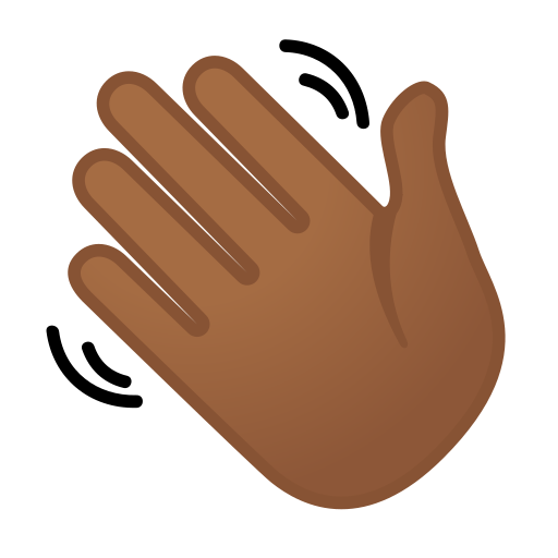 Waving Hand Emoji with Medium-Dark Skin Tone Meaning and ...