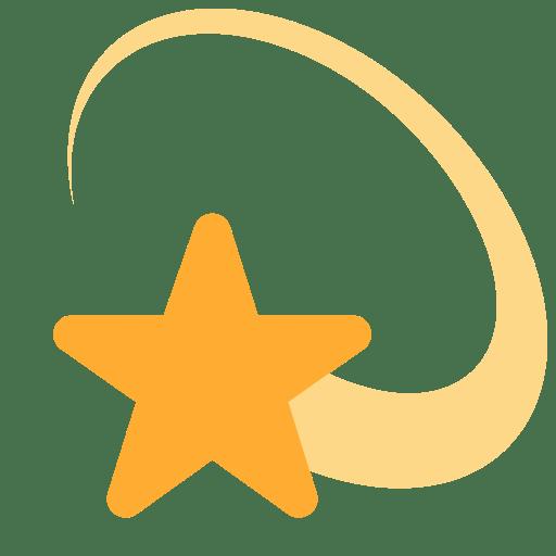 Shooting Star Emoji