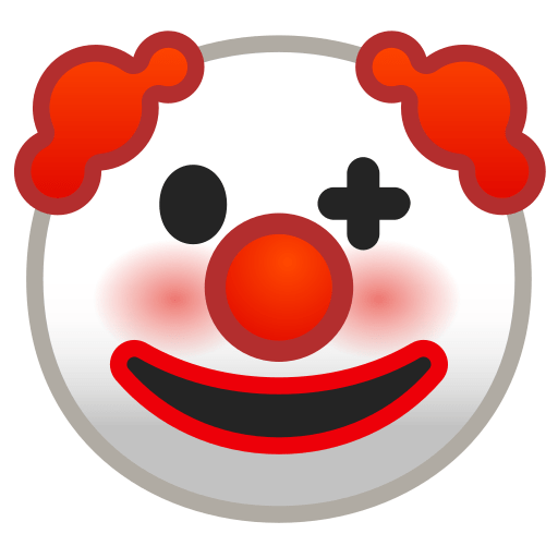 clown face emoji meaning with pictures  from a to z