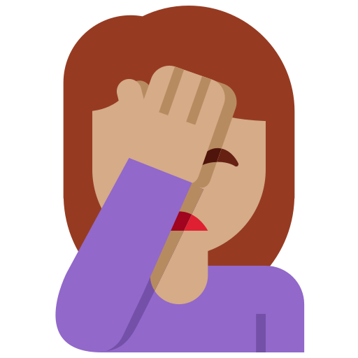 🤦🏽 Person Facepalming Emoji with Medium Skin Tone Meaning