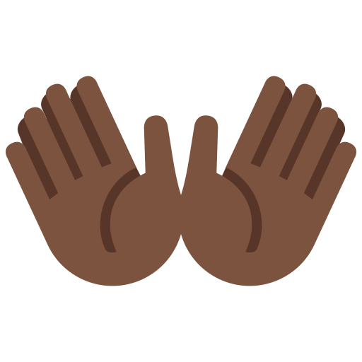 👐🏿 Open Hands Emoji with Dark Skin Tone Meaning and Pictures