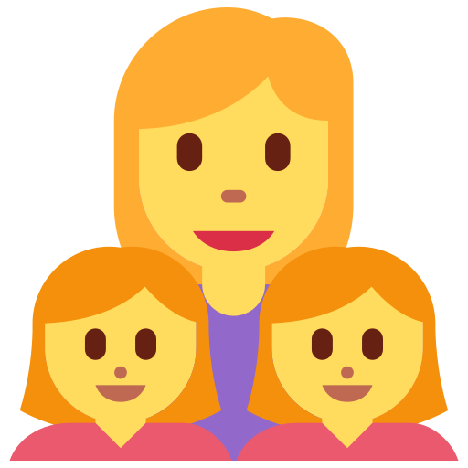 👩 👧 👧 Family: Woman, Girl, Girl Emoji Meaning and Pictures
