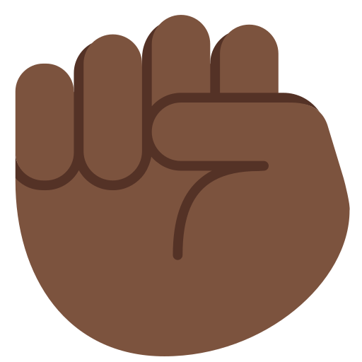 raised fist emoji with dark skin tone meaning and pictures