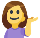Person Tipping Hand Emoji, Facebook style