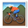 Person Mountain Biking Emoji with Dark Skin Tone, LG style