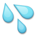 Sweat Droplets Emoji, LG style