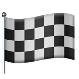 Chequered Flag Emoji, Apple style