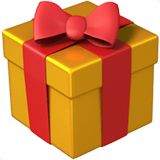 Wrapped Gift Emoji, Apple style