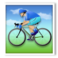 Person Biking Emoji with Medium-Light Skin Tone, LG style