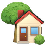House with Garden Emoji, Apple style
