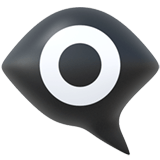 Eye in Speech Bubble Emoji, Apple style