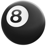 Pool 8 Ball Emoji, Apple style
