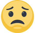 Worried Emoji / Worried Face Emoji, Facebook style