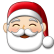 Santa Claus Emoji with a Light Skin Tone, Samsung style