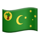 Flag: Cocos (Keeling) Islands Emoji, Apple style