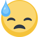 Face with Cold Sweat Emoji, Facebook style