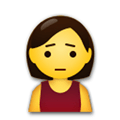 Person Frowning Emoji, LG style
