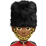 Guard Emoji with Medium-Dark Skin Tone, Apple style
