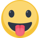 Tongue Sticking Out Emoji / Face with Stuck-Out Tongue Emoji, Facebook style
