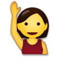 Hand Up Emoji / Person Raising Hand Emoji, LG style
