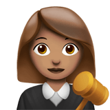 Woman Judge Emoji with Medium Skin Tone, Apple style
