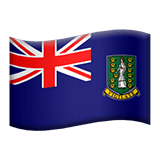 Flag of British Virgin Islands Emoji, Apple style