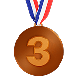 3rd Place Medal Emoji, Apple style