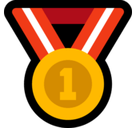 1st Place Medal Emoji, Microsoft style
