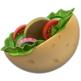 Stuffed Flatbread Emoji, Apple style