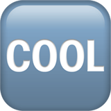 Cool Button Emoji, Apple style
