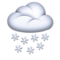 Cloud with Snow Emoji, Facebook style