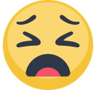Weary Face Emoji, Facebook style