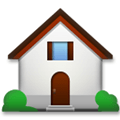 House with Garden Emoji, LG style