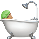 Person Taking Bath Emoji with a Medium Skin Tone, Apple style