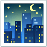Night with Stars Emoji, Apple style