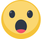 Face with Open Mouth Emoji, Facebook style