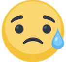 Disappointed But Relieved Face Emoji, Facebook style