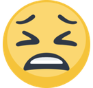 Tired Emoji / Tired Face Emoji, Facebook style