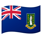 Flag of British Virgin Islands Emoji, Microsoft style