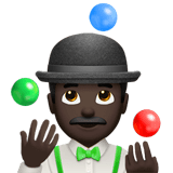 Person Juggling Emoji with a Dark Skin Tone, Apple style